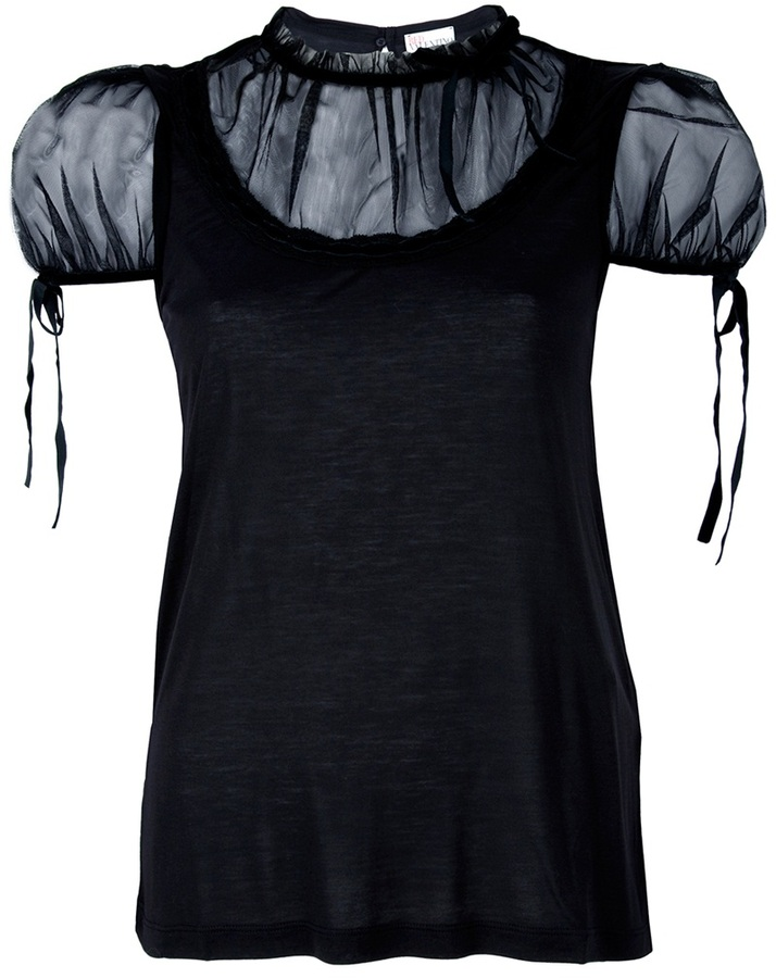 RED Valentino sheer detail blouse