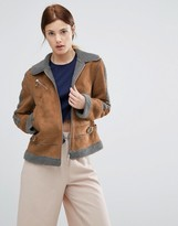 Urban Code Urbancode Contrast Faux Shearling Jacket