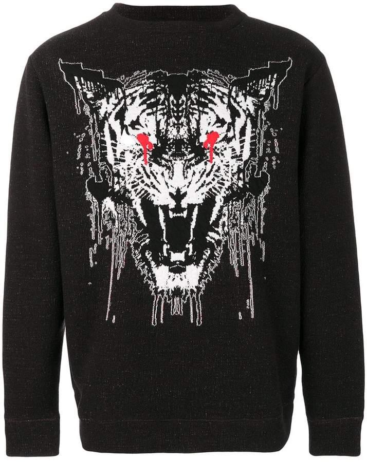 Marcelo Burlon County of Milan tiger print sweatshirt