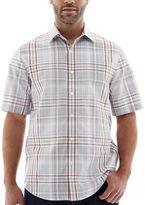 Claiborne Short-Sleeve Plaid Woven Shirt