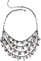 JCPenney MIXIT Mixit Gray-Tone Pink and Neutral 3-Row Shaky Necklace
