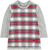 Mayoral Checked sweater dress