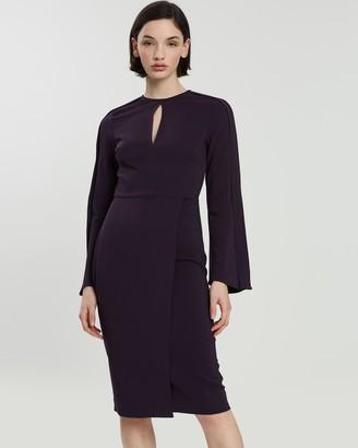 Reiss Anouk Wrap Front Slim Fit Dress