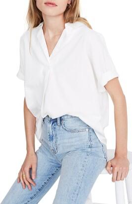 Madewell Band Sleeve Popover Shirt