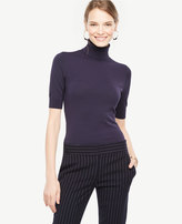 Ann Taylor Elbow Sleeve Turtleneck
