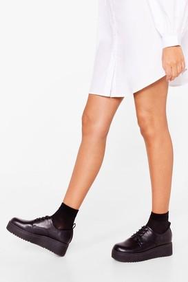 Nasty Gal Womens The Loveable Brogue Platform Shoes - Black