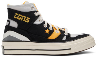 Converse Black and Yellow Chuck 70 E260 Sneakers