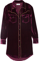 Saint Laurent Velvet Shirt - Purple