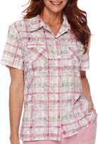 Alfred Dunner Savannah Short-Sleeve Plaid Shirt
