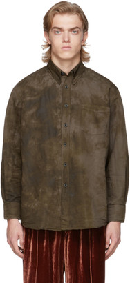 Our Legacy Brown Tie-Dye Less Borrowed Shirt