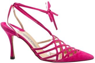 Manolo Blahnik Pink Suede Heels