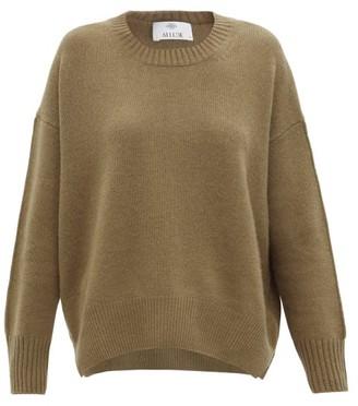 Allude Round-neck Cashmere Sweater - Khaki