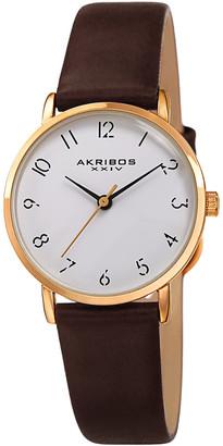 Akribos XXIV Women's Oily Calf Leather Watch