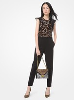 MICHAEL Michael Kors Sequined Lace and Crepe Jumpsuit