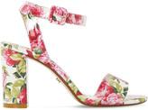 Dune Marygold peony print heeled sandals
