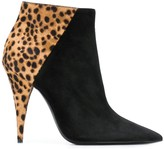 Saint Laurent Kiki leopard print ankle boots