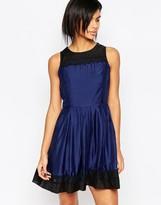 Iska Prom Dress With Lace Hem And Neckline