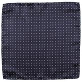 Black Navy and White Polka Dot Silk Pocket Square