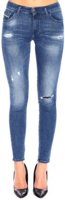 Diesel Jeans Slandy Super Skinny Low-waist Stretch Jeans With Breaks