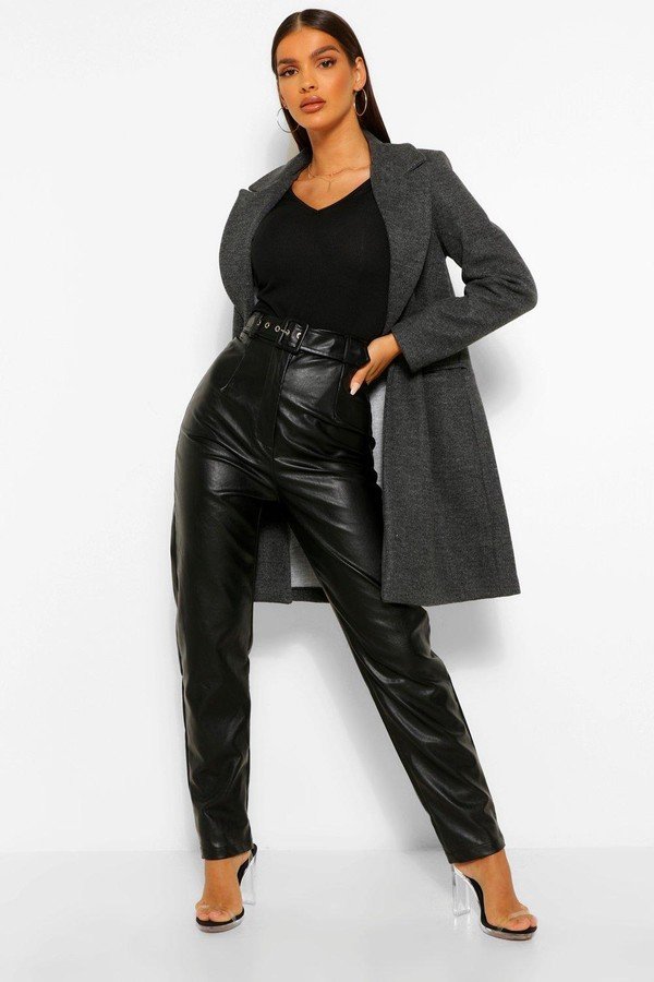Thumbnail for your product : boohoo Tailored Wool Look Coat