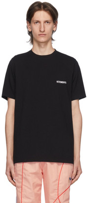 Vetements Black Logo Front Back T-Shirt