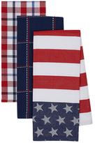 Stars and Stripes Cotton Dish Towels (Set of 3)