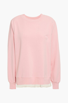 Clu Corded Lace, Satin And French Terry Sweatshirt