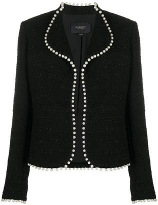 Giambattista Valli Pearl Embellished Boucle Jacket