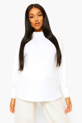 boohoo Maternity High Neck Jumper