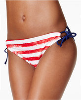 California Waves Usa Printed Side-Tie Hipster Bikini Bottom Women's Swimsuit