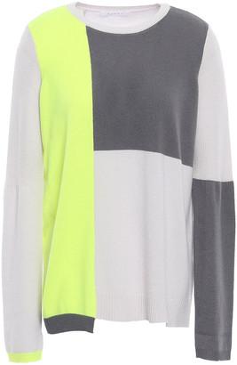 DUFFY Asymmetric Color-block Cashmere Sweater