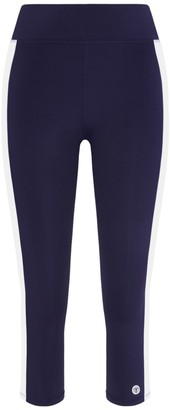 Tory Burch Reflective-Stripe Cropped Leggings