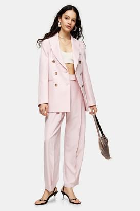 Topshop Pink Marl Slouch Suit Pants