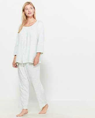 Aria Two-Piece Plus Printed Pajama Top & Pants Set