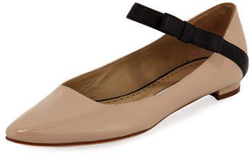 Manolo Blahnik Immaculada Leather Mary Jane Flat