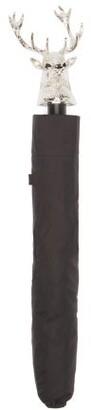 Deakin & Francis Stag Head-handle Umbrella - Black