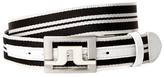 J. Lindeberg Slater Striped Webbing Belt