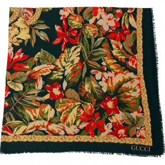 Gucci Green Wool Scarves