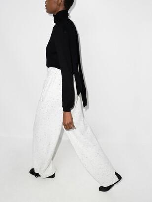 Chloé Black Scarf Cashmere Sweater