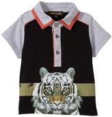 Roberto Cavalli Graphic Tiger Polo T-shirt (Baby) - Black - 24 Months