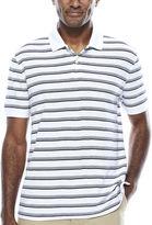 ST. JOHN'S BAY St. John's Bay Short Sleeve Stripe Performance Pique Polo Shirt