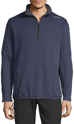 HI-TEC SPORTS USA Hi-Tec Plush Fleece Lined Mens Mock Neck Long Sleeve Quarter-Zip Pullover