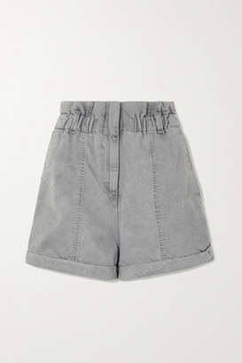 IRO Clichy Acid-wash Denim Shorts - Gray