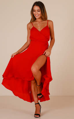 Showpo Between Fantasy Dress In Red Satin - 6 (XS) Dresses
