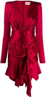 Alexandre Vauthier Draped Satin Dress