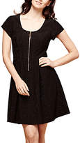 Yumi Zip Front Dress, Black