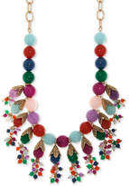 "lonna & lilly Gold-Tone Multi-Stone Beaded Statement Necklace, 22"" + 3"" extender"