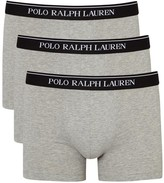 Polo Ralph Lauren Grey Stretch Cotton Boxer Briefs - Set Of Three