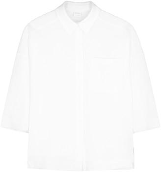 MAX MARA LEISURE Modane white pique cotton blouse