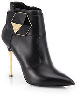 Nicholas Kirkwood Hexagon Leather Ankle Boots